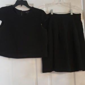 Club Monaco top and pleated skirt